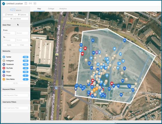 Shopping Mall Milaneo in Stuttgart mit geoVoxx (Quelle: RADiOSPHERE/geoVoxx) - Geolokation